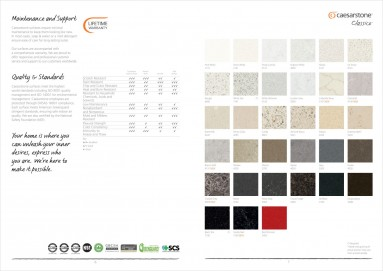 Caesarstone product brochure design