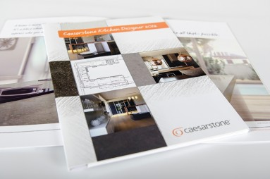 Caesarstone kitchen design competition brochure design