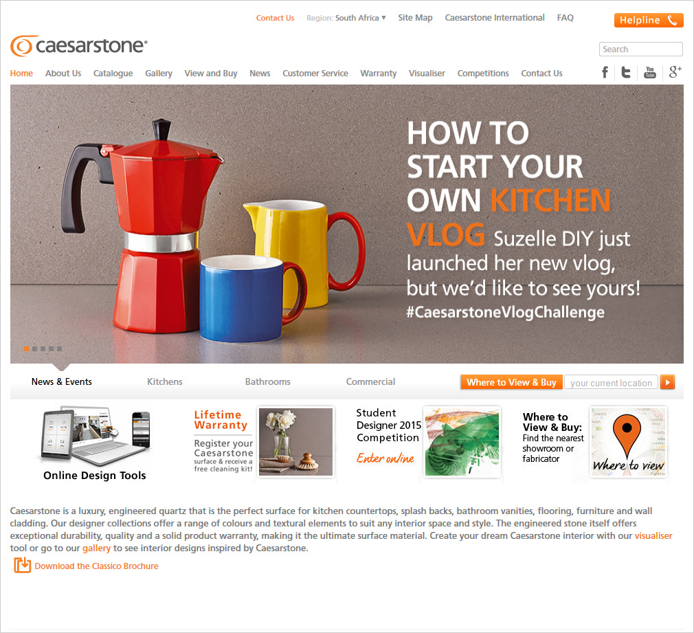 Caesarstone Marketing Materials Colin Stephenson