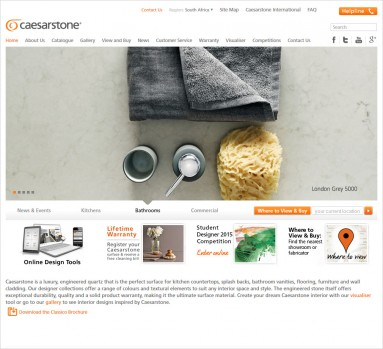 Caesarstone website design