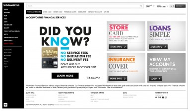 Corporate website design for Woolworths